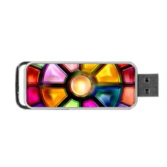 Glass Colorful Stained Glass Portable Usb Flash (two Sides)
