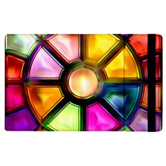 Glass Colorful Stained Glass Apple iPad 3/4 Flip Case