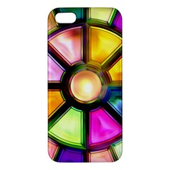 Glass Colorful Stained Glass Apple iPhone 5 Premium Hardshell Case