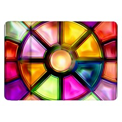 Glass Colorful Stained Glass Samsung Galaxy Tab 8.9  P7300 Flip Case