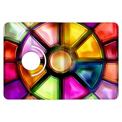 Glass Colorful Stained Glass Kindle Fire HDX Flip 360 Case