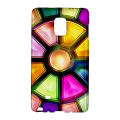 Glass Colorful Stained Glass Galaxy Note Edge