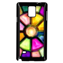 Glass Colorful Stained Glass Samsung Galaxy Note 4 Case (Black)