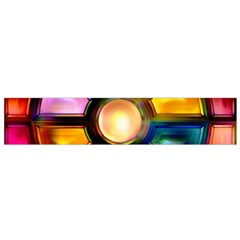 Glass Colorful Stained Glass Flano Scarf (Small)