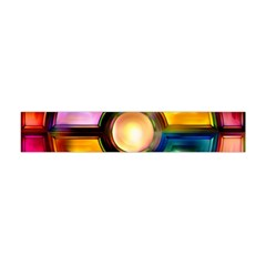 Glass Colorful Stained Glass Flano Scarf (Mini)