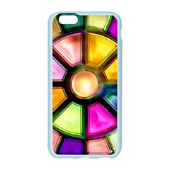 Glass Colorful Stained Glass Apple Seamless iPhone 6/6S Case (Color)