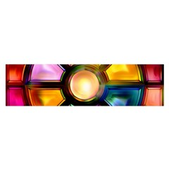 Glass Colorful Stained Glass Satin Scarf (Oblong)