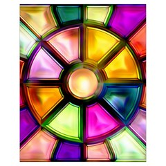 Glass Colorful Stained Glass Drawstring Bag (Small)