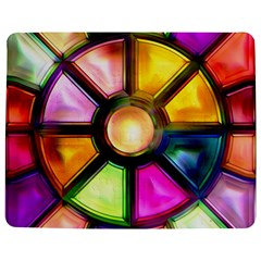 Glass Colorful Stained Glass Jigsaw Puzzle Photo Stand (Rectangular)