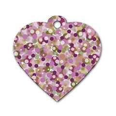 Colorful bubbles Dog Tag Heart (Two Sides)