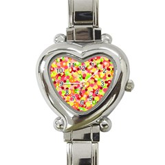 Playful bubbles Heart Italian Charm Watch