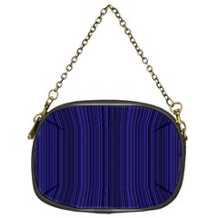 Deep blue lines Chain Purses (Two Sides)