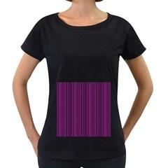 Deep purple lines Women s Loose-Fit T-Shirt (Black)