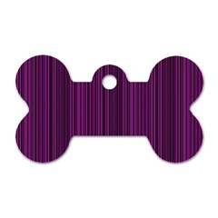 Deep purple lines Dog Tag Bone (One Side)