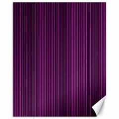Deep purple lines Canvas 11  x 14