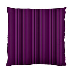 Deep purple lines Standard Cushion Case (Two Sides)