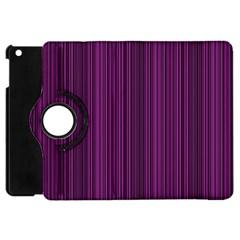 Deep Purple Lines Apple Ipad Mini Flip 360 Case