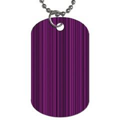 Deep purple lines Dog Tag (Two Sides)