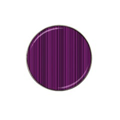 Deep purple lines Hat Clip Ball Marker