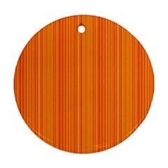 Orange pattern Ornament (Round)