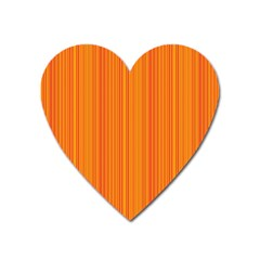 Orange pattern Heart Magnet