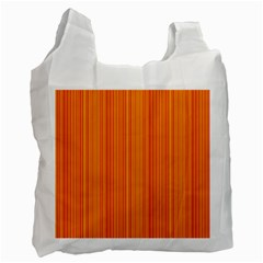 Orange pattern Recycle Bag (Two Side)