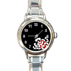 Elegant abstraction Round Italian Charm Watch