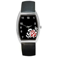 Elegant abstraction Barrel Style Metal Watch