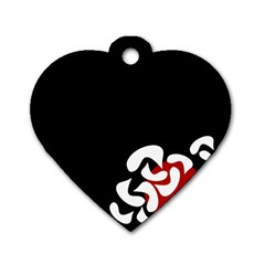 Elegant Abstraction Dog Tag Heart (two Sides)