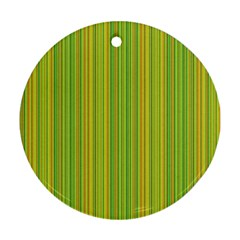 Green lines Ornament (Round)