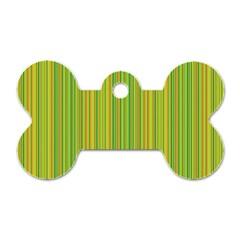 Green lines Dog Tag Bone (Two Sides)