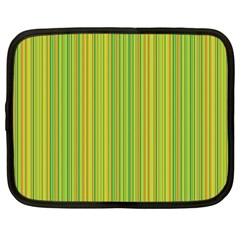 Green lines Netbook Case (Large)