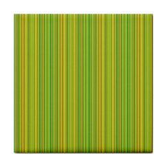 Green lines Face Towel