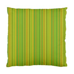 Green lines Standard Cushion Case (Two Sides)