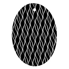 Elegant black and white pattern Ornament (Oval)