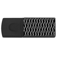 Elegant black and white pattern USB Flash Drive Rectangular (4 GB)