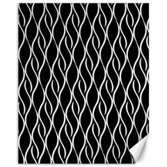 Elegant Black And White Pattern Canvas 11  X 14