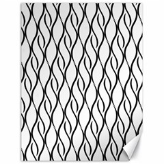 Black and white elegant pattern Canvas 18  x 24