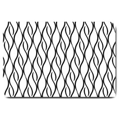 Black and white elegant pattern Large Doormat