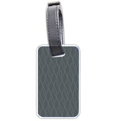 Gray pattern Luggage Tags (One Side)