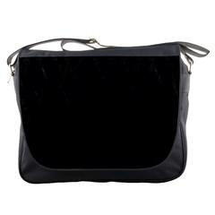 Black Pattern Messenger Bags