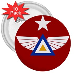 Emblem of The Myanmar Air Force 3  Buttons (10 pack)