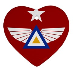 Emblem of The Myanmar Air Force Heart Ornament (Two Sides)
