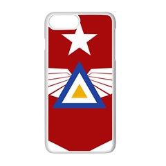 Emblem Of The Myanmar Air Force Apple Iphone 7 Plus White Seamless Case