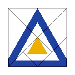 Roundel of The Myanmar Air Force Acrylic Tangram Puzzle (6  x 6 )