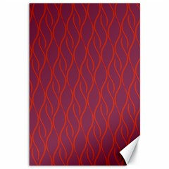 Red pattern Canvas 12  x 18