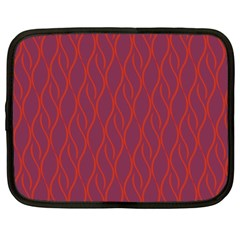 Red pattern Netbook Case (Large)
