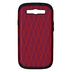 Red Pattern Samsung Galaxy S Iii Hardshell Case (pc+silicone)