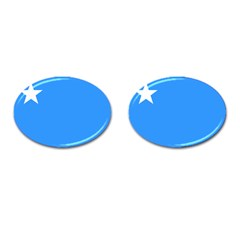 Flag of The Myanmar Air Force Cufflinks (Oval)