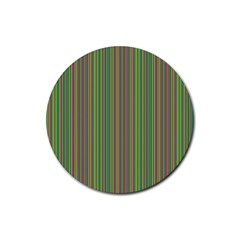 Green lines Rubber Round Coaster (4 pack)